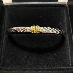 DAVID YURMAN Cable Center Station Emerald Bracelet